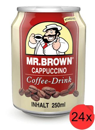 Mr. Brown Cappuccino Coffee-Drink 24 Dosen