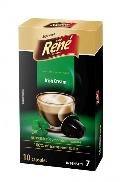 Café René Irish Cream 10 Kompatible Nespresso ® Kapseln