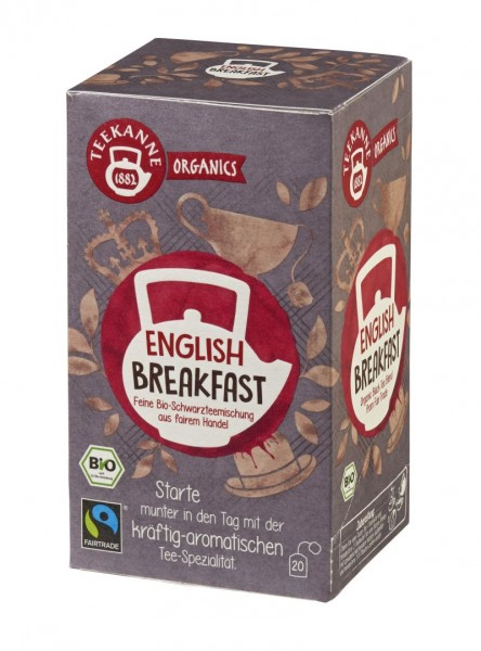 Teekanne ORGANICS English Breakfast 20 Beutel