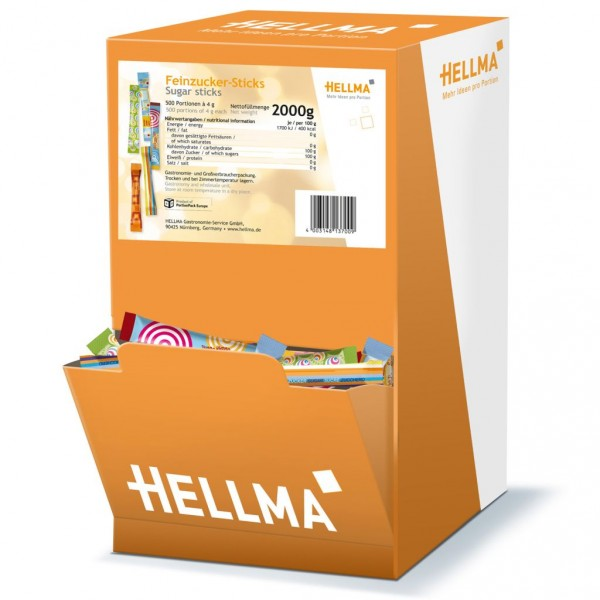 Hellma Feinzucker - Sticks 500 x 4 g