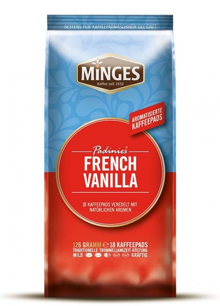 Minges Padinies French Vanilla 18 Kaffeepads Vanille