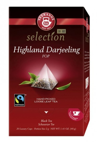 Highland Darjeeling FOP Fairtrade 20 Luxury Cups Teekanne