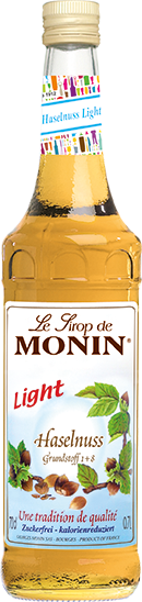 MONIN ® Sirup Haselnuss Light 0,7 l zuckerfrei